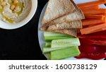 hummus dip with vegetable...   Shutterstock . vector #1600738129