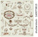 set of calligraphic design... | Shutterstock .eps vector #160073813