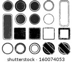 set of grunge stamp   | Shutterstock .eps vector #160074053