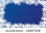 blue snowflakes frame. easy to... | Shutterstock .eps vector #16007428