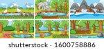 background scenes of animals in ...   Shutterstock .eps vector #1600758886