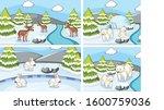 background scenes of animals in ... | Shutterstock .eps vector #1600759036