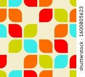retro abstract geometric shape... | Shutterstock .eps vector #1600805623