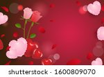 love and romantic background... | Shutterstock .eps vector #1600809070