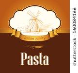 spaghetti. pasta. bakery.... | Shutterstock .eps vector #160084166