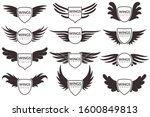 wings logo. winged emblems ... | Shutterstock .eps vector #1600849813
