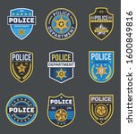 police labels. policeman law... | Shutterstock .eps vector #1600849816
