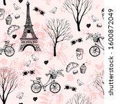 Paris City Romance Seamless....