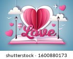 open fairy tale book with... | Shutterstock .eps vector #1600880173