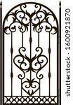 Forged Fence. Gothic Door ...