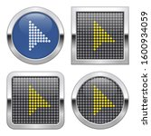 dotted icon of pointer arrow on ... | Shutterstock . vector #1600934059
