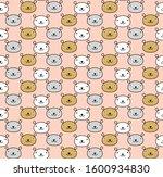 seamless children happy animals ... | Shutterstock .eps vector #1600934830
