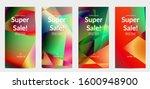 abstract irregular polygonal... | Shutterstock .eps vector #1600948900
