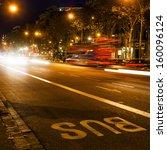 Night Traffic In Barcelona ...