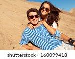 sunny summer beautiful closeup... | Shutterstock . vector #160099418