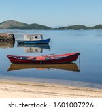 Fishing Boats Standing In The...