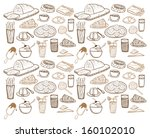 food and drink background | Shutterstock .eps vector #160102010