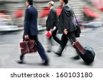 business people at rush hour... | Shutterstock . vector #160103180