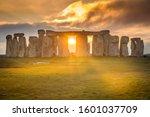 Stonehenge During Sunset Winte...