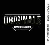 original typography for t shirt ... | Shutterstock .eps vector #1601064223
