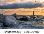 Lighthouse In A Storm. Kholmsk. ...