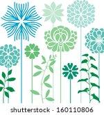flower bed   Shutterstock .eps vector #160110806