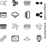 connection vector icon set such ...