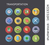 flat icons for transportation....