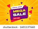 mega sale discount banner... | Shutterstock .eps vector #1601137660