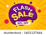 flash sale discount banner... | Shutterstock .eps vector #1601137666