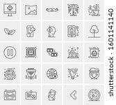 set of 25 universal business... | Shutterstock .eps vector #1601141140