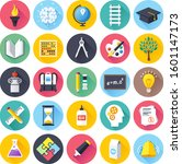 vector set of colorful flat...   Shutterstock .eps vector #1601147173