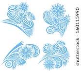 beautiful winter pattern... | Shutterstock . vector #160115990