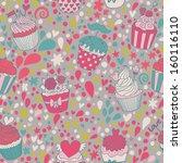 sweet concept seamless pattern. ... | Shutterstock .eps vector #160116110