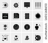 16 universal business icons... | Shutterstock .eps vector #1601168653
