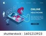 online diagnosis through a... | Shutterstock .eps vector #1601213923