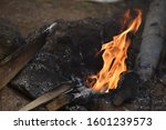 Image is Captured by Me(Sanju) with DSLR Camera Nikon D3500. Image is Based Upon Natural Photography of WoodFire.