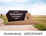 The Entrance Sign Of Badlands...