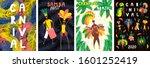set of brazilian carnival...   Shutterstock .eps vector #1601252419