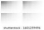 set of corner gradient halftone ... | Shutterstock .eps vector #1601259496