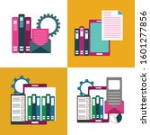 set of data storage. mobile... | Shutterstock .eps vector #1601277856
