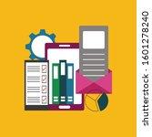 concept of data storage. mobile ... | Shutterstock .eps vector #1601278240
