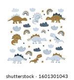 Hand Drawn Dinosaurs Square...