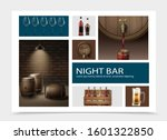 realistic night bar elements... | Shutterstock .eps vector #1601322850