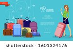flat travel colorful template... | Shutterstock .eps vector #1601324176