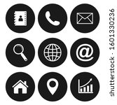 contact us icons. web icon set  ... | Shutterstock .eps vector #1601330236