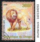congo   circa 2008  stamp... | Shutterstock . vector #160134053