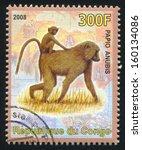 congo   circa 2008  stamp... | Shutterstock . vector #160134086