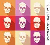 halloween background.vector... | Shutterstock .eps vector #160134974