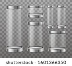 empty cylinder capsule  clear... | Shutterstock .eps vector #1601366350